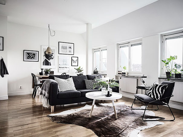 D coration en noir blanc blog d co mydecolab - Decoration salon noir et blanc ...