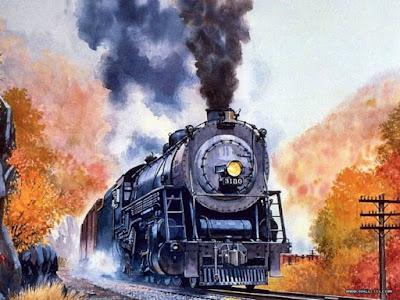 trenes-y-ferrocarriles-paisajes-en-acuarela