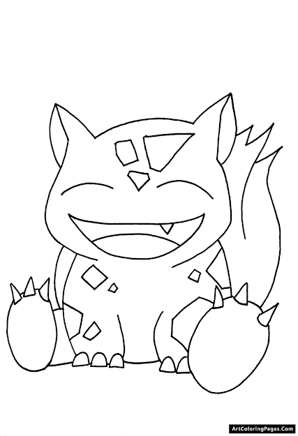 Pokemon Coloring Pages  Cute Bulbasaur