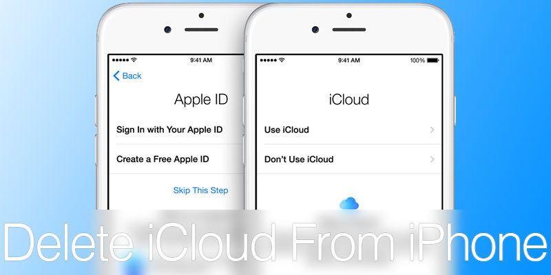 delete icloud account on iphone