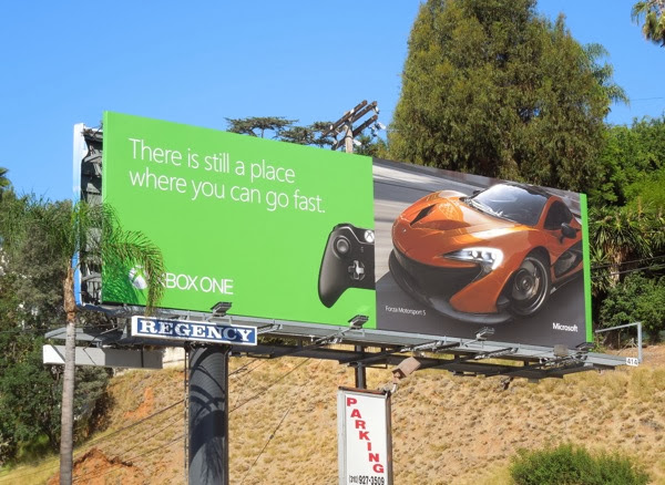 place where you can go fast Xbox One billboard