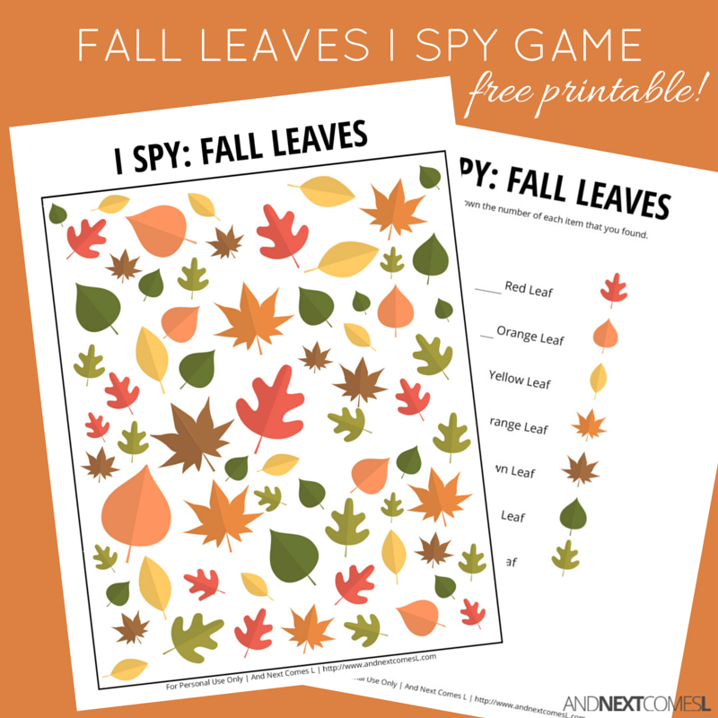 photo about Printable Fall Leaf titled Drop Leaves I Spy Activity Totally free Printable for Children And Subsequent