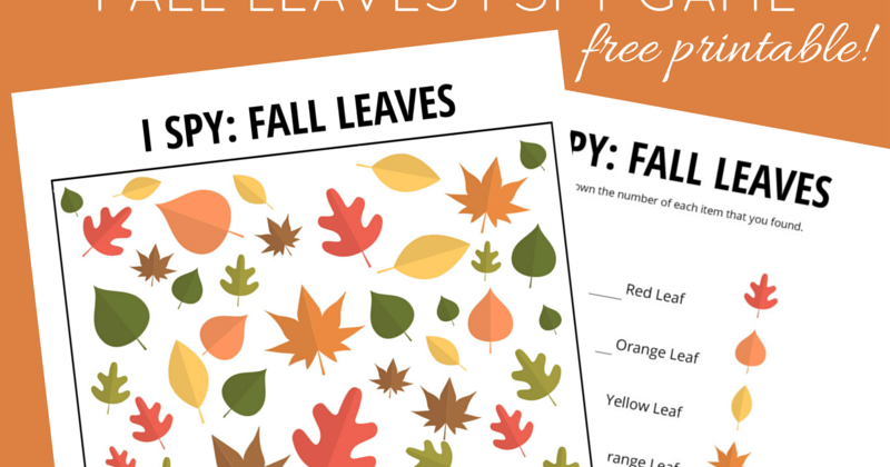 photo about Free Printable Fall Leaves titled Drop Leaves I Spy Recreation No cost Printable for Little ones And Following