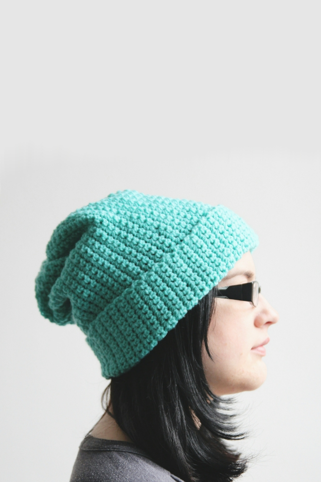 Make this easy, slouchy Diy Crochet Hat