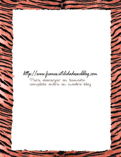 marco atigrado color salmon animal print