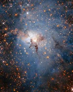 Nebulosa da Lagoa no infravermelho
