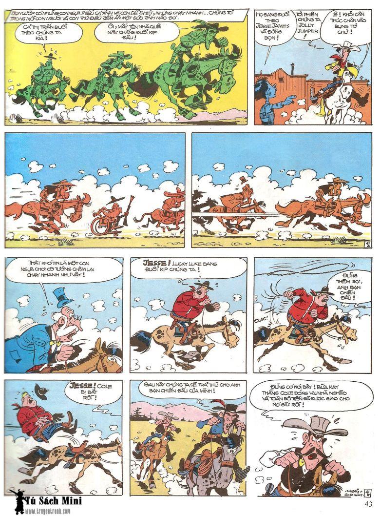 Lucky Luke tap 16 - jesse james hiep si rung xanh trang 45