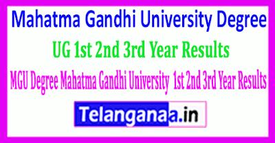 Mahatma Gandhi University UG 1st 2nd 3rd Year Results