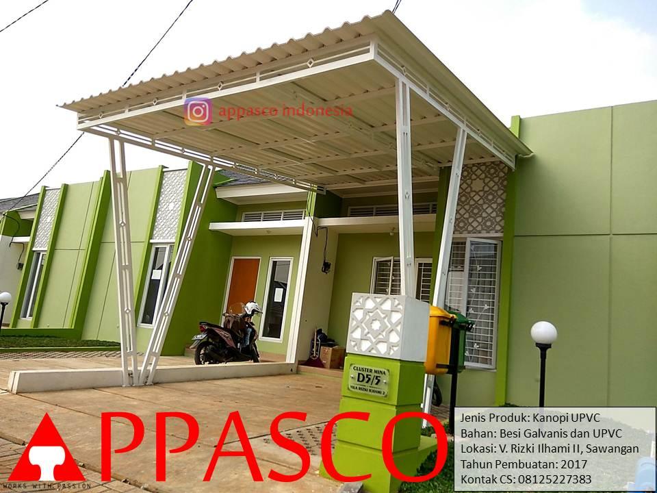 Kanopi UPVC Galvanis di Villa Rizki ilhami Sawangan