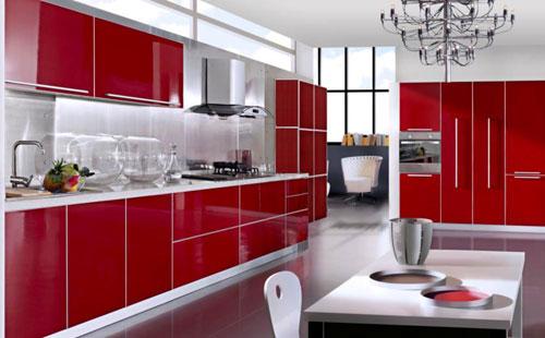 perlengkapan dapur warna merah