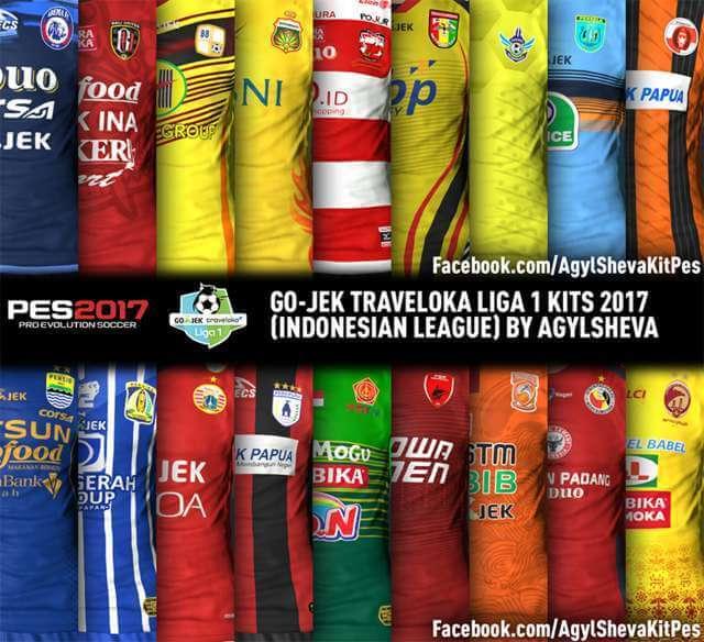 Gojek Traveloka Liga 1 Kitpack PES 2017