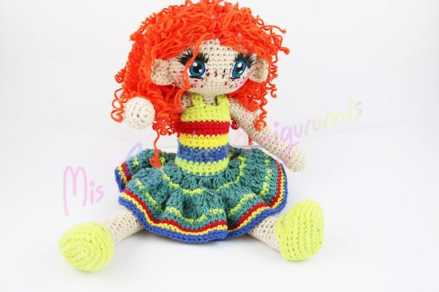 Amigurumi Alegra muñeca