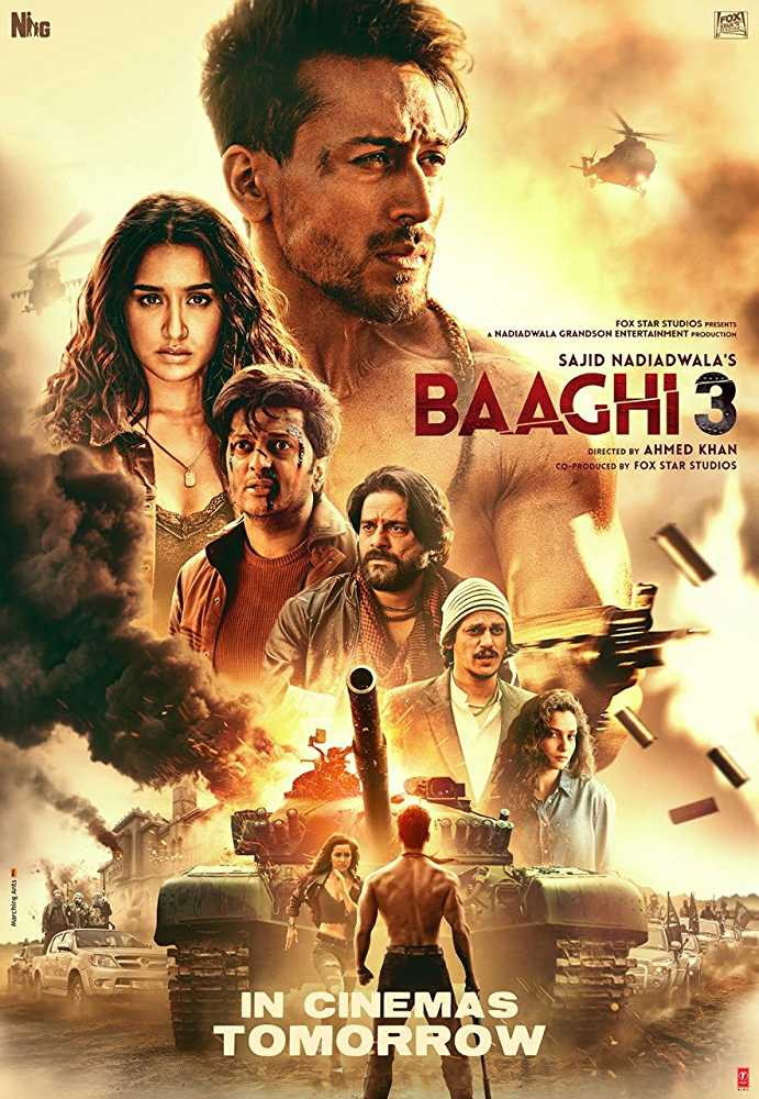 Baaghi 3 2020 Hindi Movie 400MB pDVDRip Download