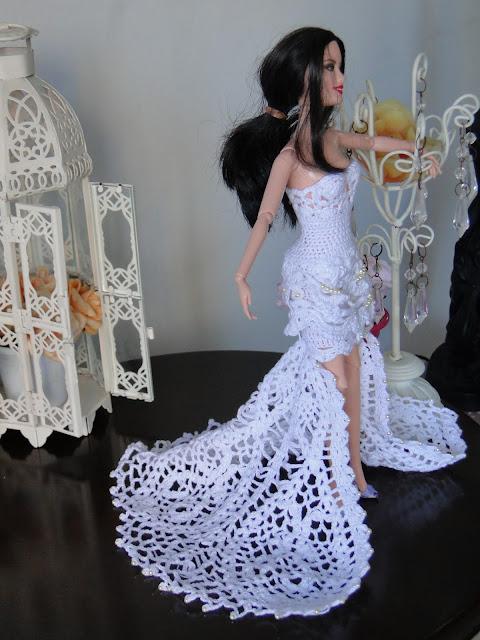 Vestido de noiva de crochê para Barbie, por Pecunia MillioM 4