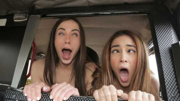 Ginebra Bellucci And Anastasia Brokelyn in Cheeky Spanish Lesbians fuck Cabbie - Fake Taxi