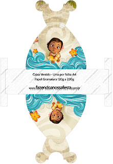 Moana Baby Free Printable Dress Box.