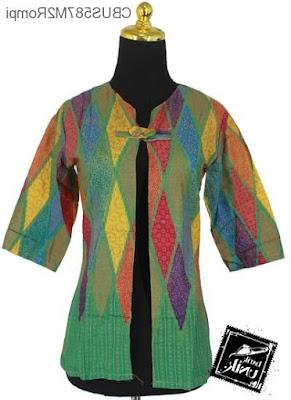 Desain Rompi Baju Batik Modern Terbaru