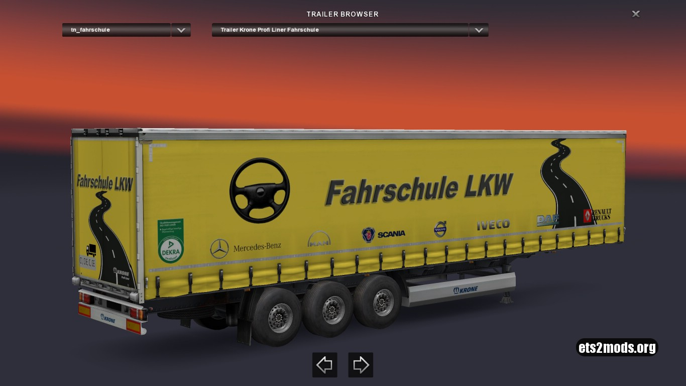 Krone Fahrschule LKW Trailer