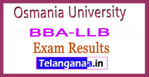 Osmania University OU BBA LLB Exam Results Download