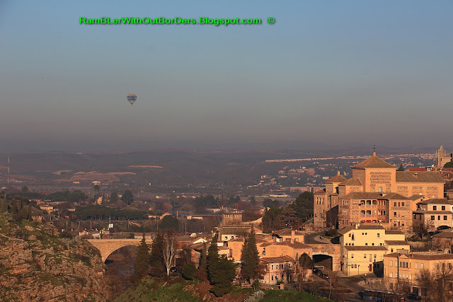 Hot-air balloon, Toledo, Spain
