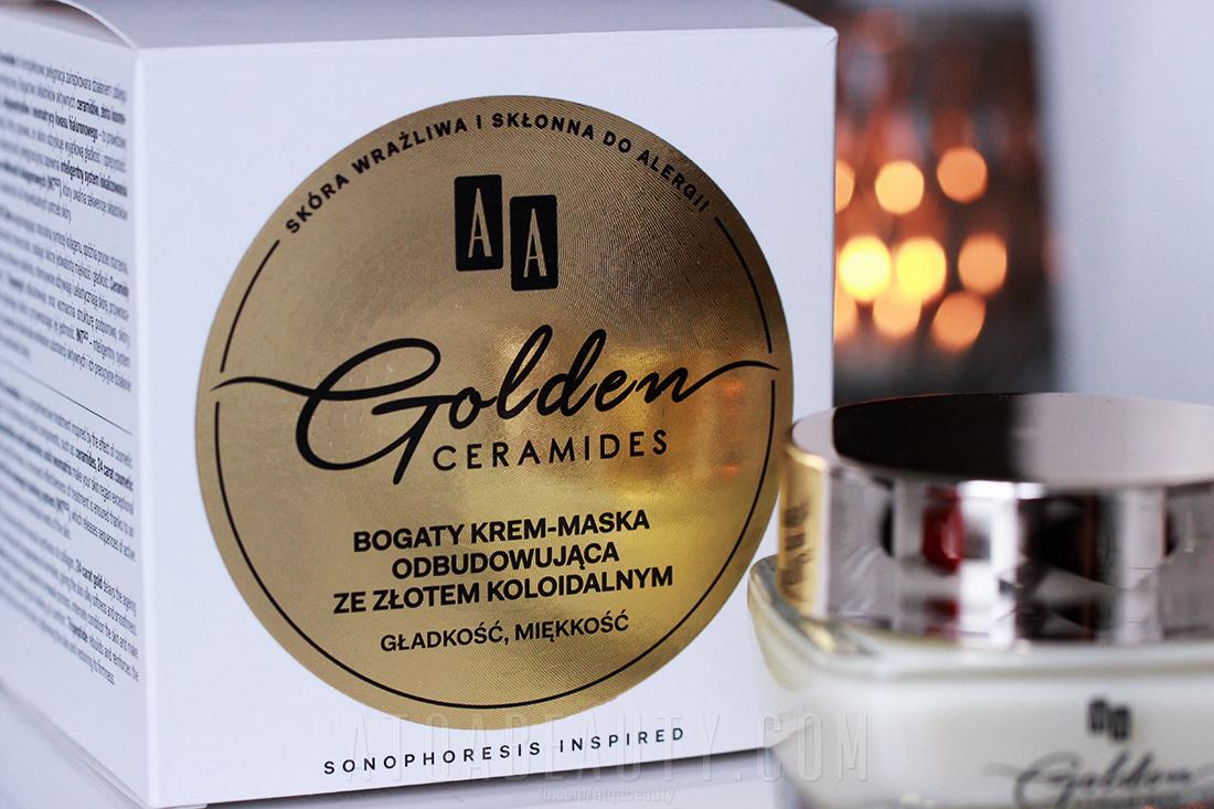 Pielęgnacja :: Złoto i ceramidy 2<br>(AA Golden Ceramides Bogaty krem-maska odbudowująca ze złotem koloidalnym) [recenzja]
