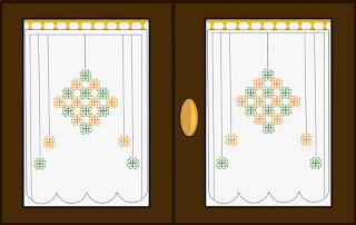 Tatting diagram for curtains - Schema a chiacchierino per tende