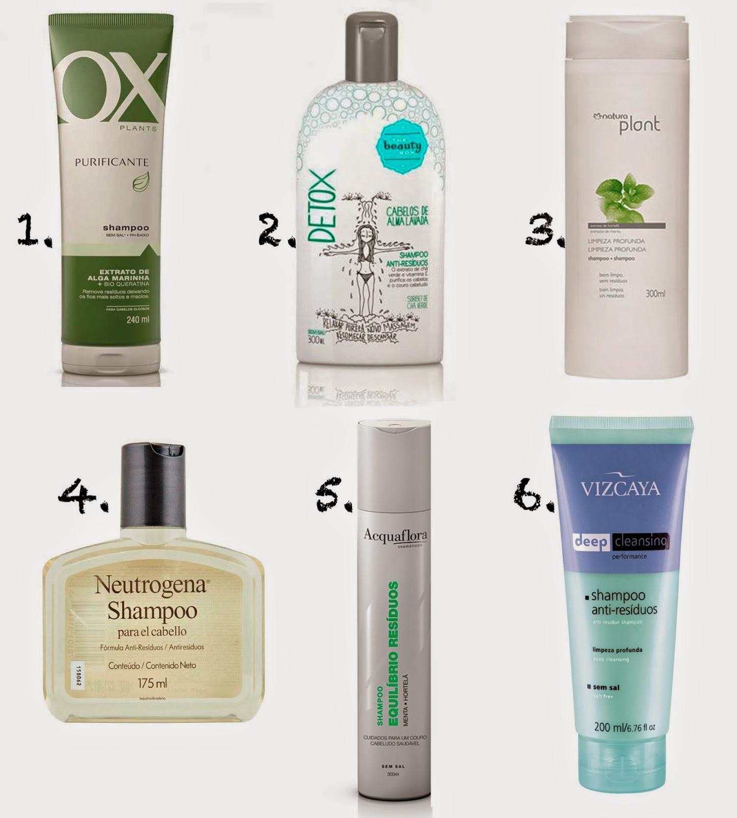 dicas shampoo anti resíduo cabelo limpo