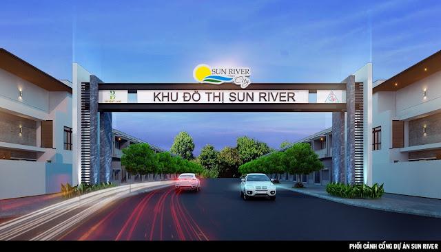 cổng chào sun river city