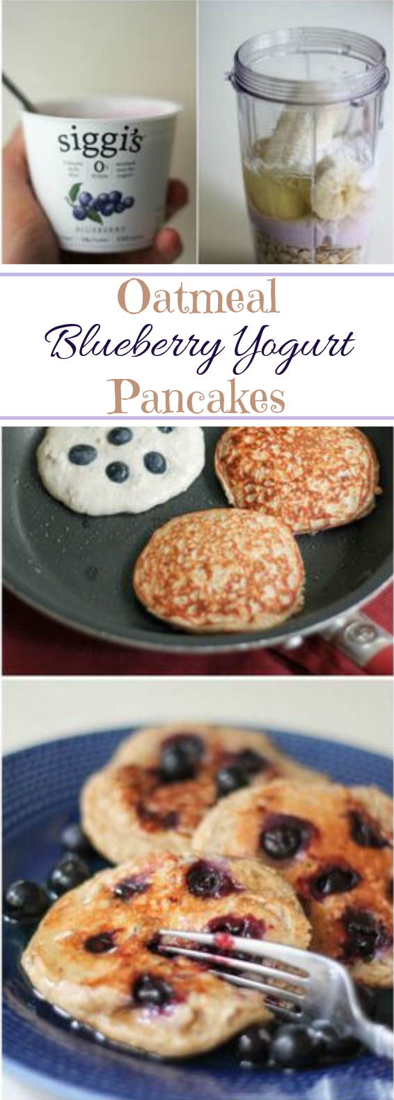 Oatmeal Blueberry Yogurt Pancakes #highprotein #glutenfree