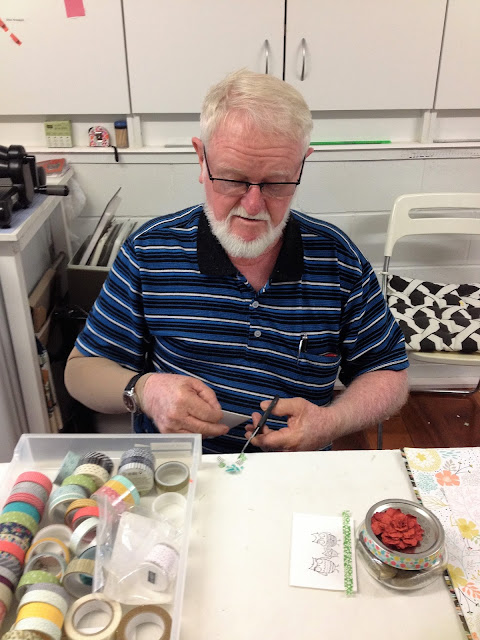 #menofstampinup helping cut washi tape