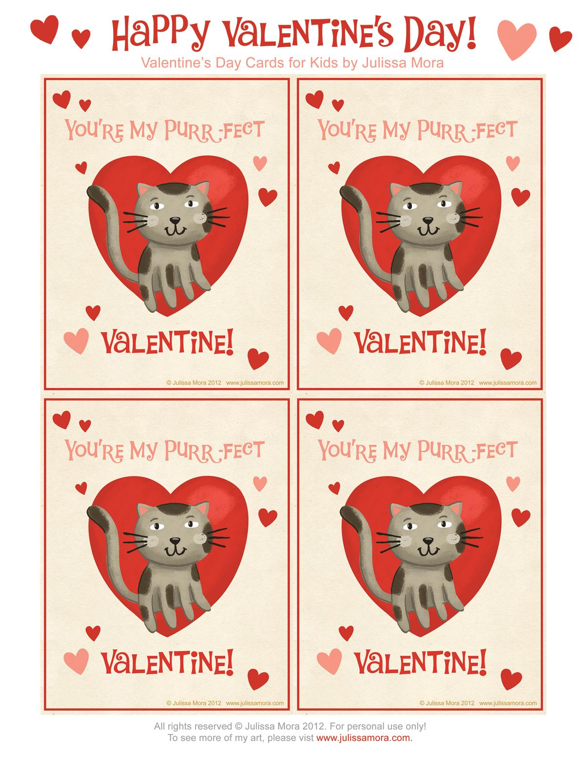 Julissa Mora Free Valentine S Day Cards For Kids
