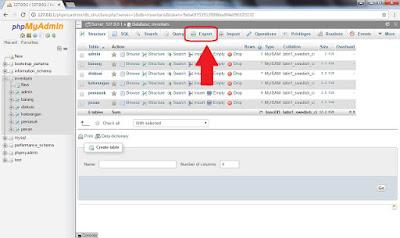 Cara Eksport Database MySQL di phpMyAdmin