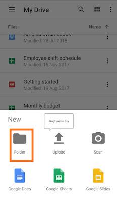 create a new folder in google drive
