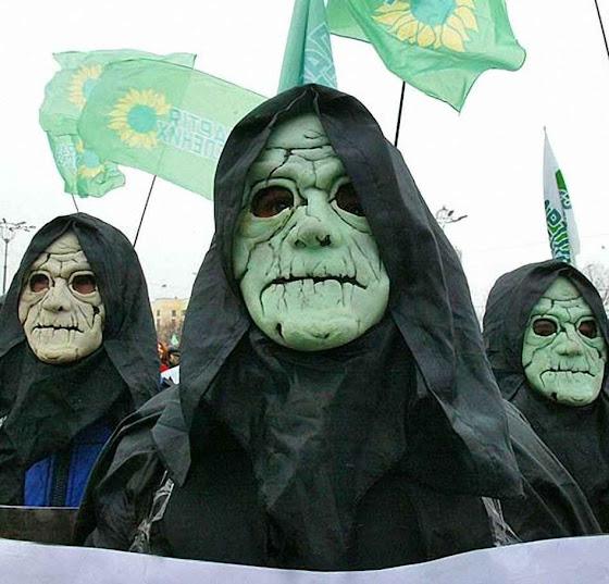 Ativistas ambientalistas na Ucrânia.