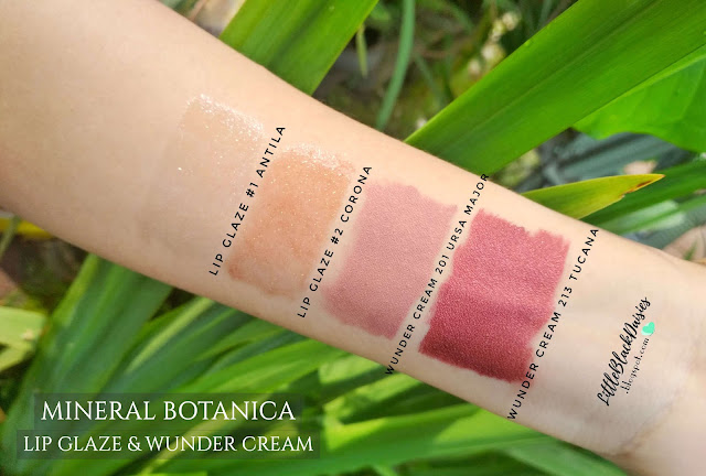 MINERAL BOTANICA WUNDER CREAM AND LIP GLAZE SWATCH REVIEW