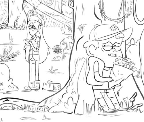 Dibujos de Gravity Falls para colorear y pintar ~ Dibujos