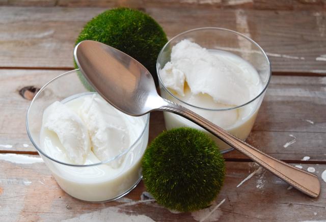 Zitroneneis Naturjoghurt Sommer Dessert