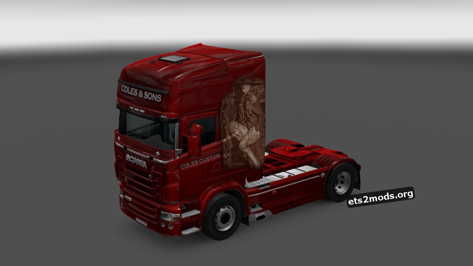 Coles Custom Vendetta Skin for Scania RJL