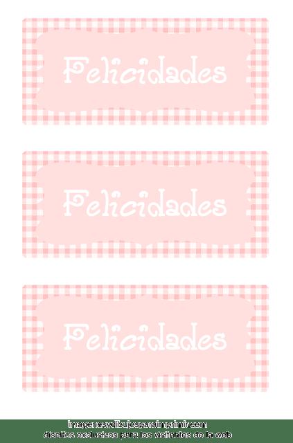 Etiquetas para decorar regalo de bebe