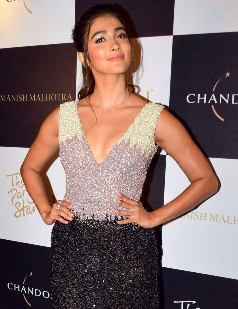 Pooja Hegde Hot Pictures At Manish Malhotra X Chandon -8565