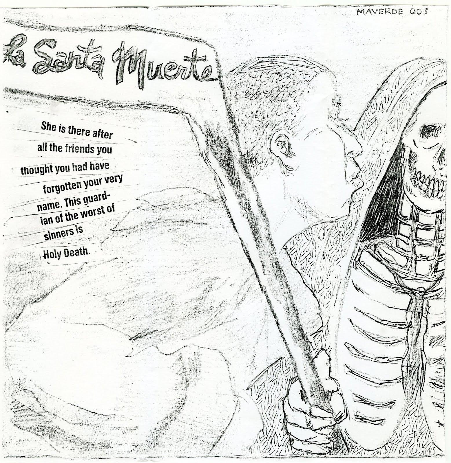 la santa muerte coloring pages - photo #35