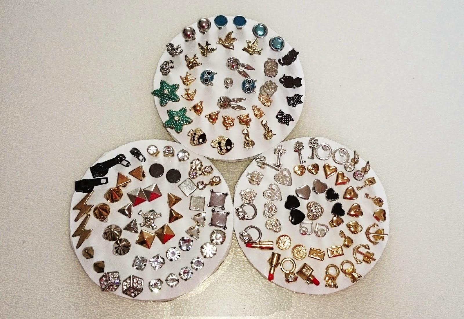 sabrina 39 s make up diary diy earring holder transformer. Black Bedroom Furniture Sets. Home Design Ideas