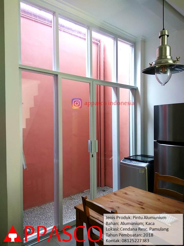 Pintu Kaca Kusen Lis Aluminium di Pamulang