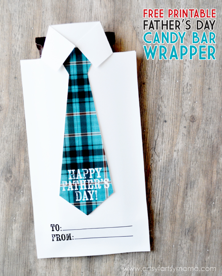 Put together this Free Printable Father's Day Candy Bar Wrapper and Questionnaire for dad this year!