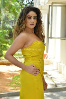 Sony Charishta In a Yellow Jump Suit Sleevelss Deep neck Beautiful Actress ~  Exclusive 004.jpg