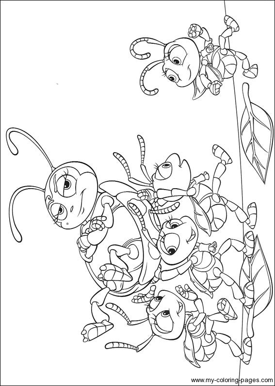 a bugs life coloring book pages - photo #15