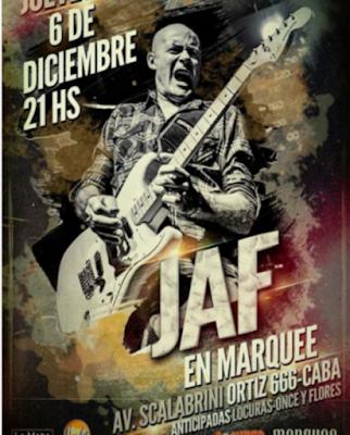 Jaf cierra el año en Capital con un show en el Marquee.