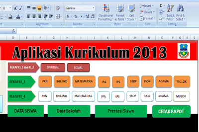 Download Aplikasi Raport K-2013 Tingkat SD Revisi Terbaru
