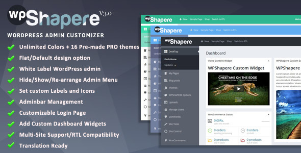 Free Download Wordpress Admin Theme - WPShapere V3.0