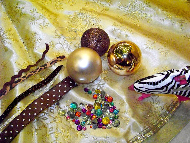 DIY Dollar Tree Ornaments supplies